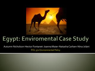 Egypt:  Enviromental  Case Study