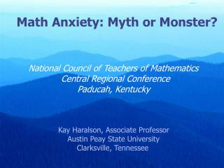 National Council of Teachers of Mathematics  79th Annual Conference  Orlando, Florida