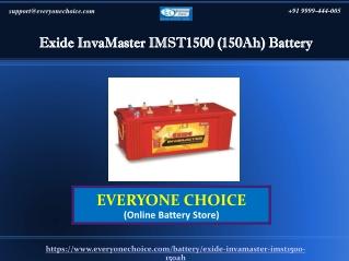 Best Exide InvaMaster IMST1500 (150Ah) Battery