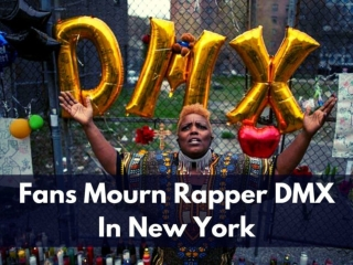 Fans mourn rapper DMX in New York