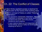 Ch. 22: The Conflict of Classes