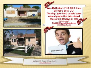 FHA 203K  Loans Made Easy  bbclpctr