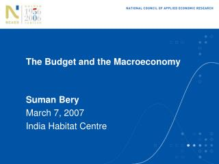 The Budget and the Macroeconomy