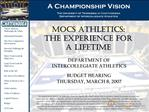A Championship Vision The University of Tennessee at Chattanooga