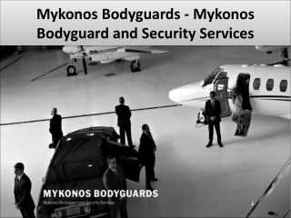 Private security in mykonos
