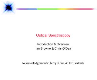Optical Spectroscopy