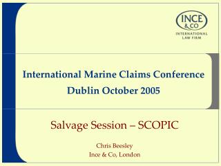 International Marine Claims Conference  Dublin October 2005