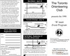 The Toronto Orienteering Club presents the 1998
