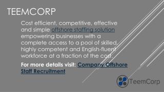 Offshore Staff Management