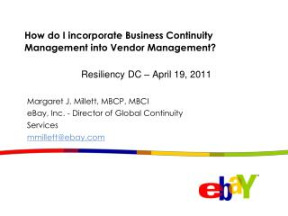 How do I incorporate Business Continuity Management into Vendor Management?