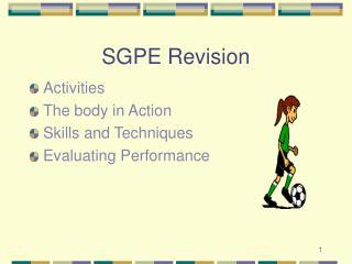 SGPE Revision