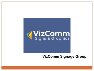 Lobby Sign Services from VizComm Signs & Graphics