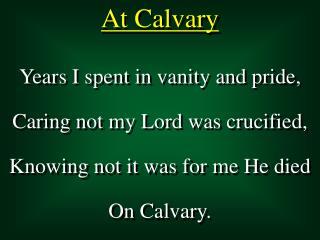 At Calvary