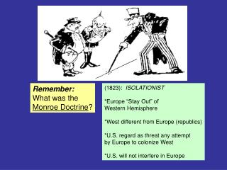 Remember: What was the Monroe Doctrine ?