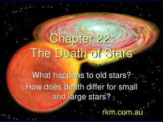 Chapter 22: The Death of Stars