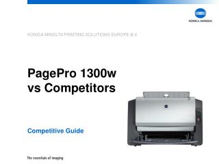 PagePro 1300w  vs Competitors