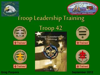 Troop Leadership Training Troop 42