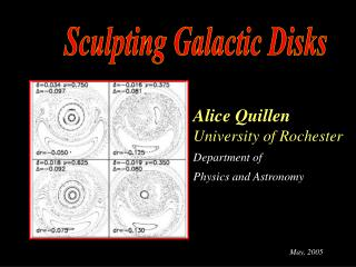 Alice Quillen University of Rochester Department of  Physics and Astronomy