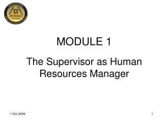 The Supervisor as Human Resources Manager