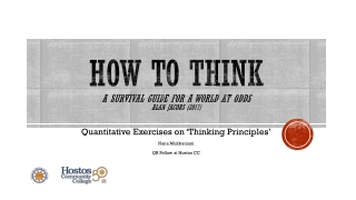 How To Think A Survival Guide for a World at odds Alan Jacobs (2017)