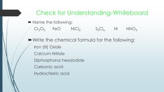 Check for Understanding-Whiteboard