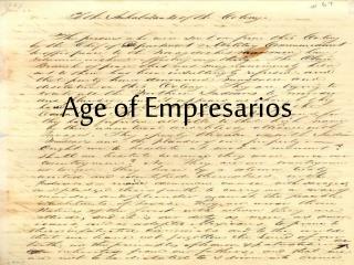 Age of Empresarios