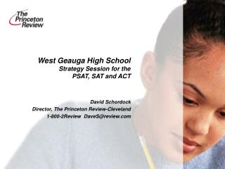 West Geauga High School Strategy Session for the  PSAT, SAT and ACT