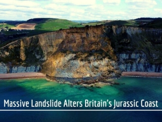 Massive landslide alters Britain's Jurassic Coast