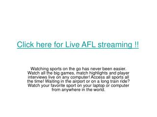 Collingwood vs Port Adelaide afl live Football streaming 201