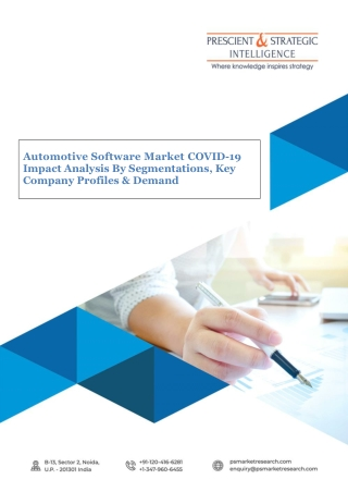 Automotive Software Market Growth, Key Players, Demand and Future Scope