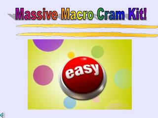 Massive Macro Cram Kit!
