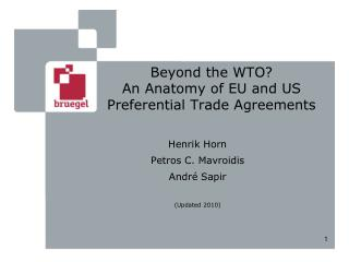 Beyond the WTO? An Anatomy of EU and US Preferential Trade Agreements