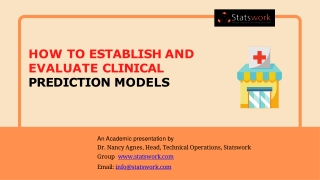 How to establish and evaluate clinical prediction models - Statswork