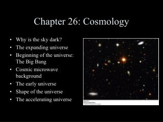 Chapter 26: Cosmology