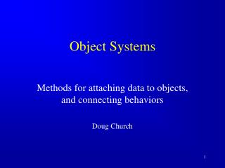 Object Systems