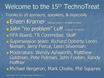 Welcome to the 15th TechnoTreat