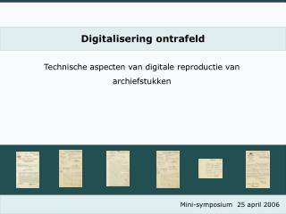Digitalisering ontrafeld
