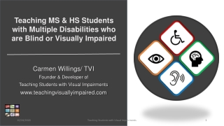 Determining AT Needs for People who are Blind or Visually Impaired