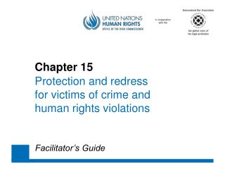 Chapter 15 Protection and  redress 	for victims of  crime  and 	human  rights violations