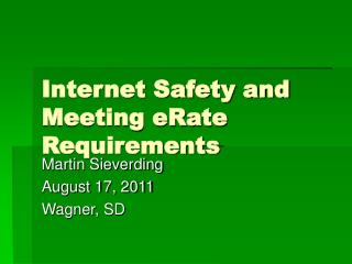 Internet Safety and Meeting eRate Requirements