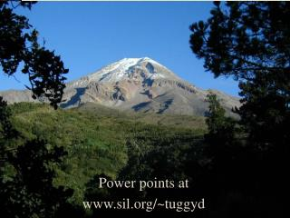 Power points at  www.sil.org/~tuggyd