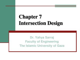 Chapter 7  Intersection Design