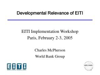 Developmental Relevance of EITI