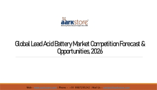 Global Lead Acid Battery Market Report - Projected Growth - Aarkstore