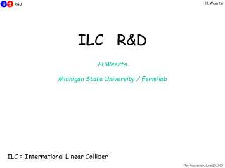 ILC R&D