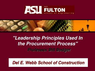Del E. Webb School of Construction
