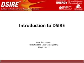 Introduction to DSIRE