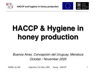 HACCP & Hygiene in honey production
