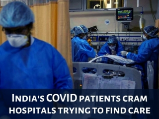 India's COVID patients cram hospitals trying to find care
