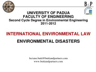 UNIVERSITY OF PADUA FACULTY OF ENGINEERING  Second Cycle Degree in Environmental Engineering  2011-2012